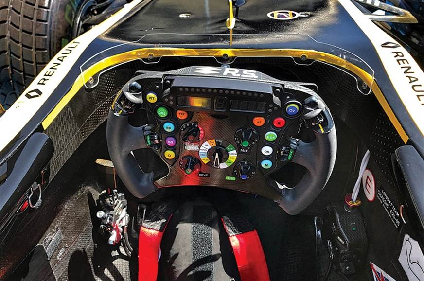 F1 steerings are quite complex, so the only button availa...