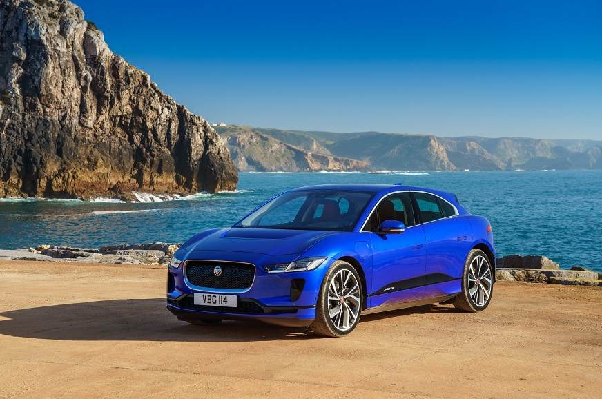 The all-electric Jaguar I-Pace.