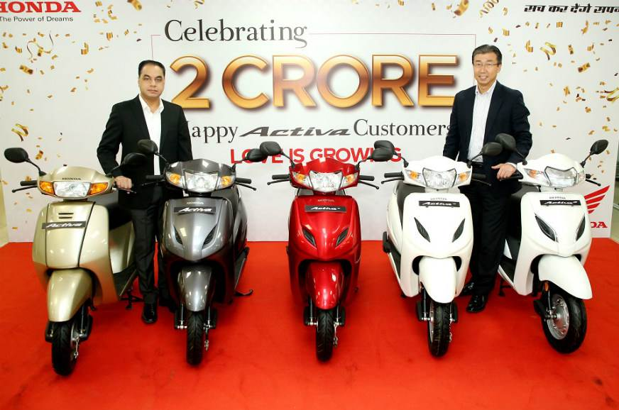 Honda Activa sales cross 2 crore mark