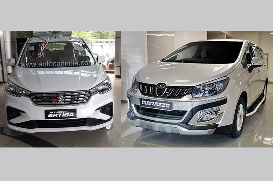 2018 Maruti Suzuki Ertiga vs Mahindra Marazzo: Specifications comparison