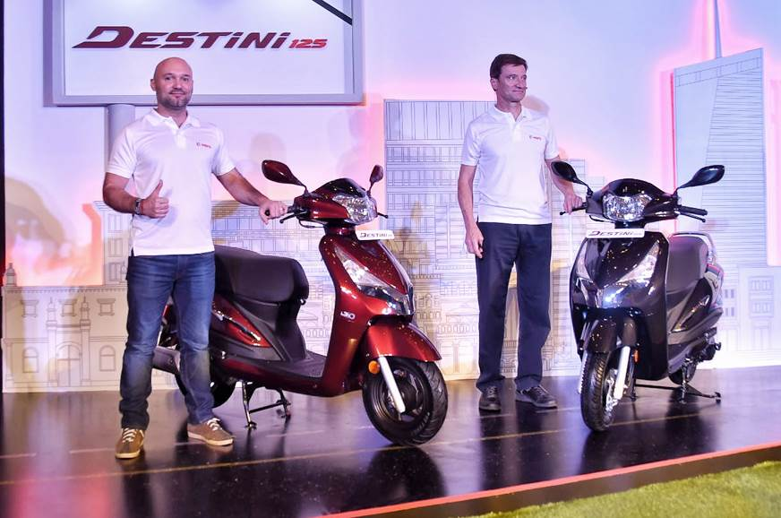 Hero Destini 125 scooter launched at Rs 54,650