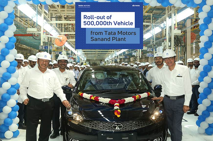 Tata rolls out 5 lakh vehicles from Sanand plant