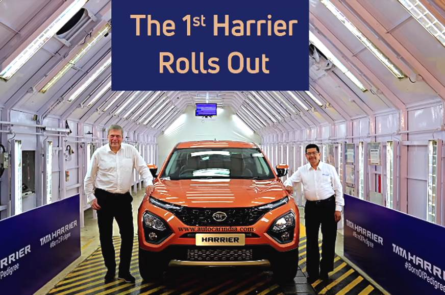 First Tata Harrier rolls off the production line