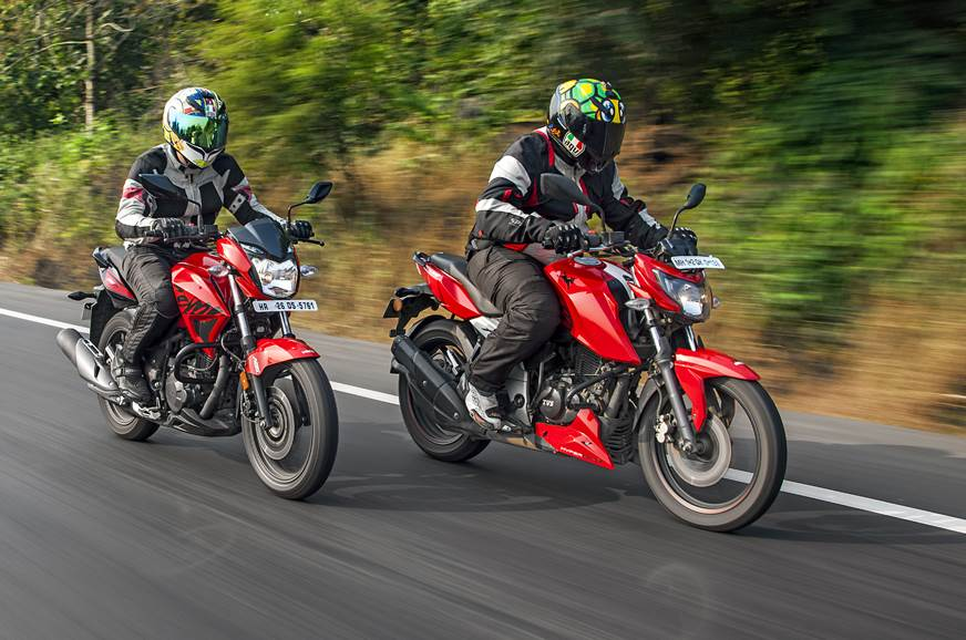 Hero Xtreme 200R vs TVS Apache RTR 160 4V comparison