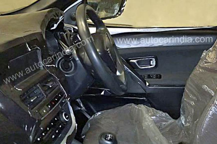 Tata Harrier interior spy shot.