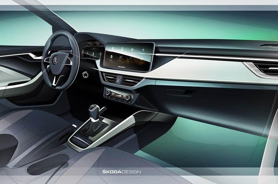 New Skoda Scala interior revealed