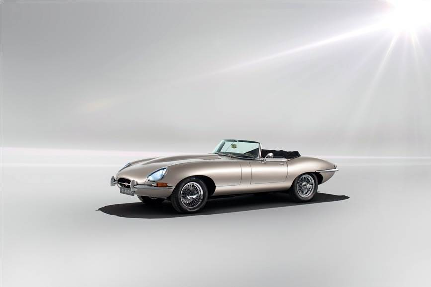 Jaguar claims the E-Type Zero Electric can sprint from 0-100kph in just 5.5sec.