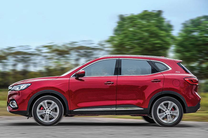 MG badge looks at home on an SUV with a sporty stance.