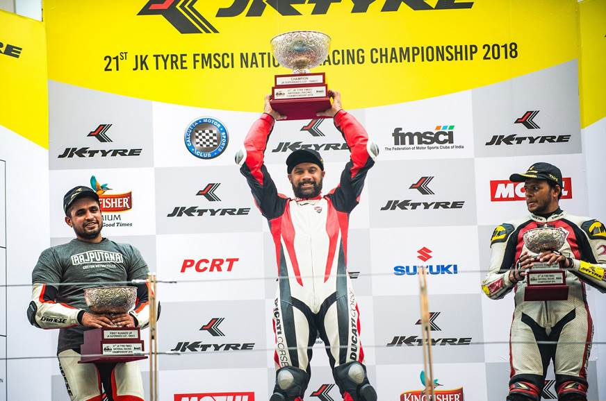 Ducati wins 2018 JK Tyre Indian National Racing Championship