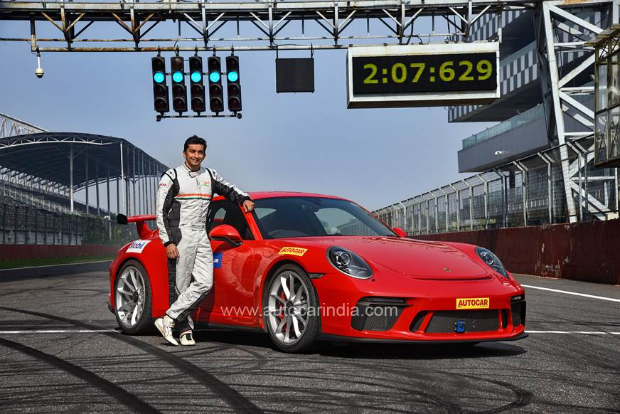 Porsche 911 GT3 smashes Buddh circuit lap record