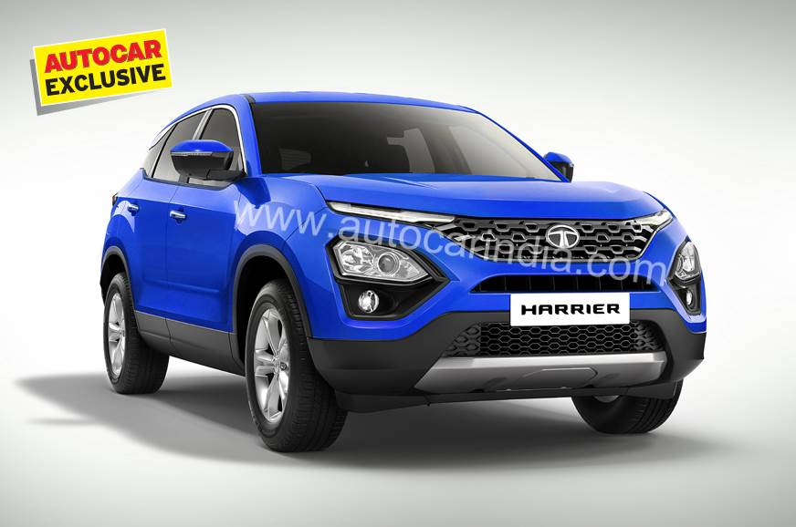Computer generated rendering of the Tata Harrier.