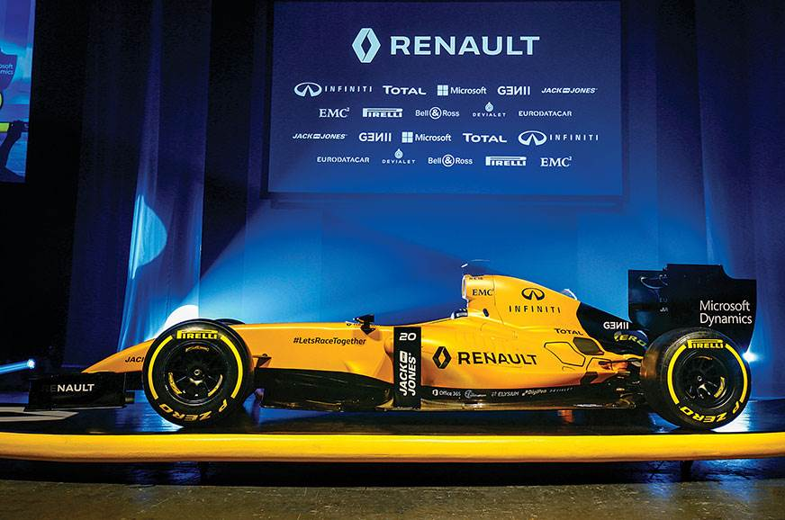 Renault unveil their distinctive yellow livery ahead of t...
