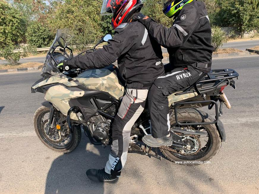Benelli TRK 502 X spotted testing in India