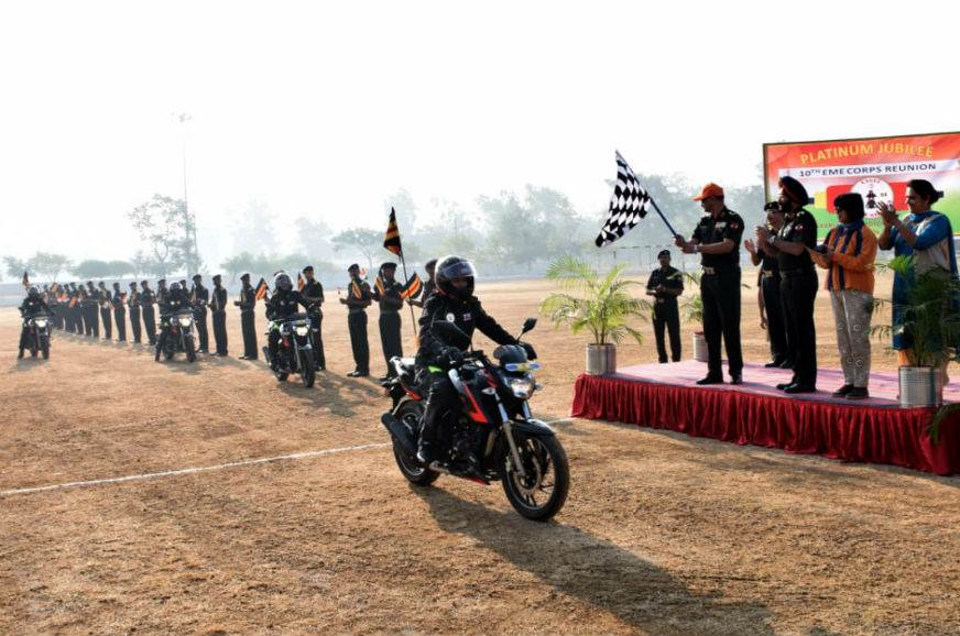 TVS flags off 'Ride of Honour' ride in association with Indian Army