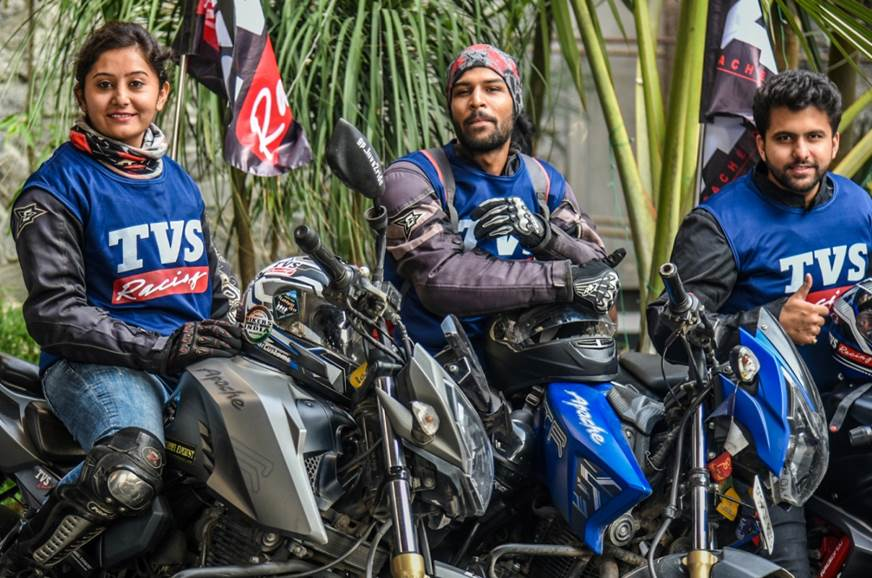 TVS Apache owners embark on ride to Bhutan