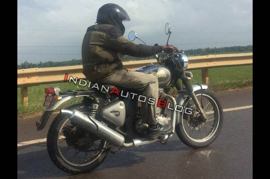 Royal Enfield Classic 500 Scrambler spotted testing