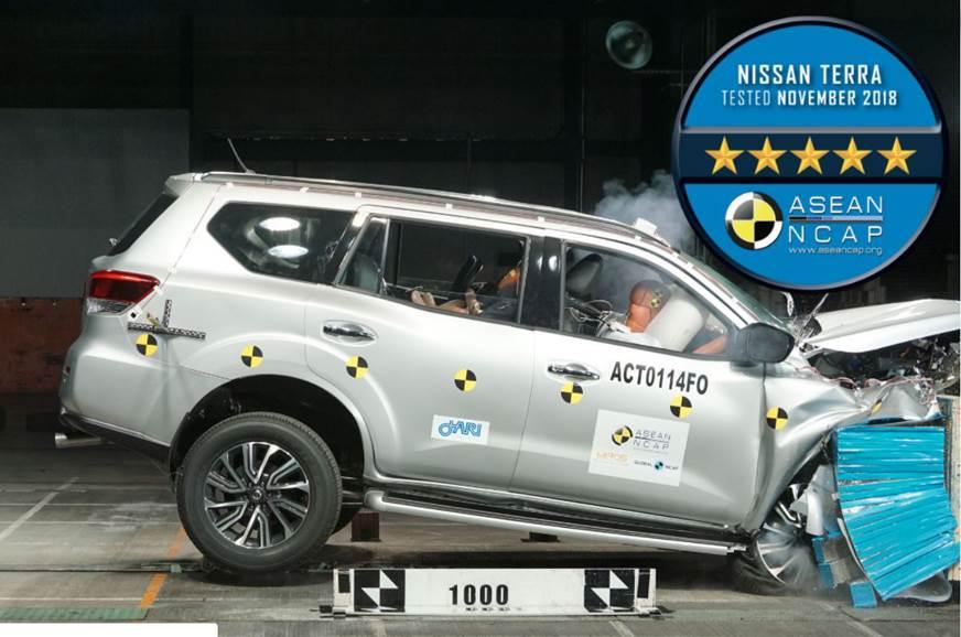 Nissan Terra awarded five stars by ASEAN NCAP