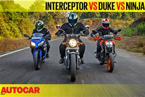 Interceptor 650 vs 390 Duke vs Ninja 300 comparison video