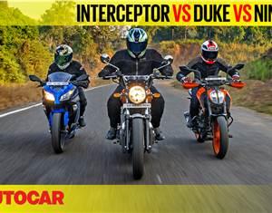 Interceptor 650 vs 390 Duke vs Ninja 300 comparison video
