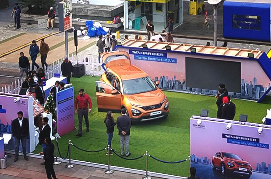Tata Harrier makes public debut ahead of launch