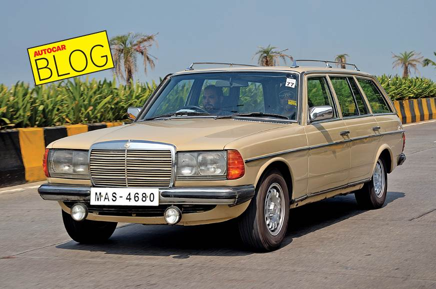 The wagon body style suits the W123's character.