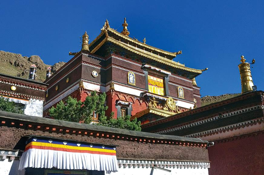 In Tibet, all that glitters is gold, quite literally.