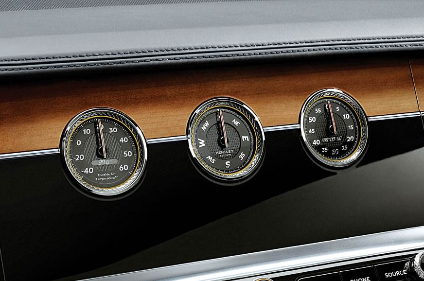 Touchscreen swivels to show important gauges.