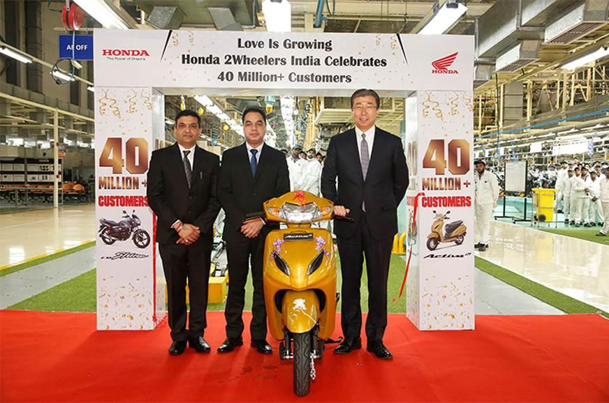 Honda 2Wheelers hits 40 million in sales in 18 years