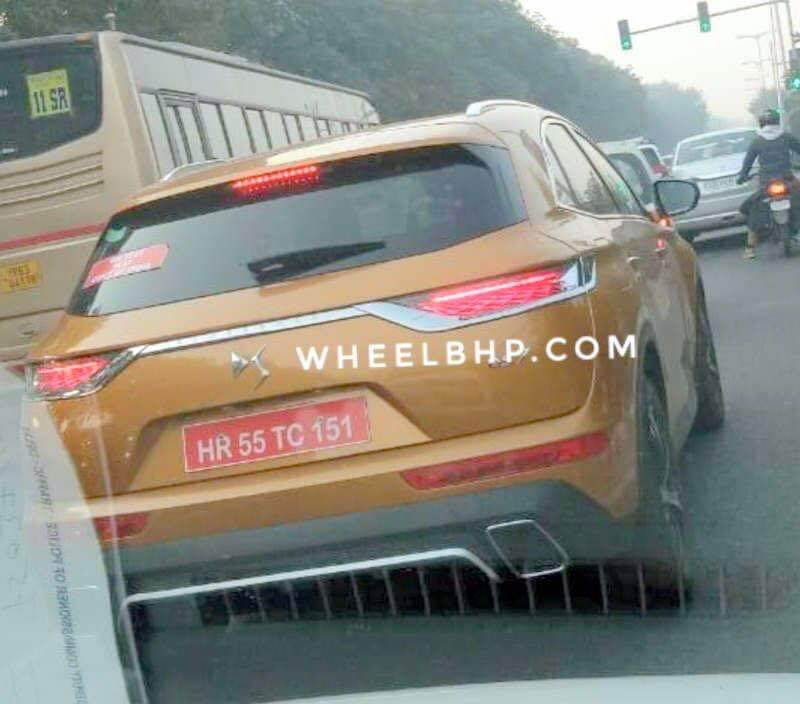DS 7 Crossback SUV spied in India