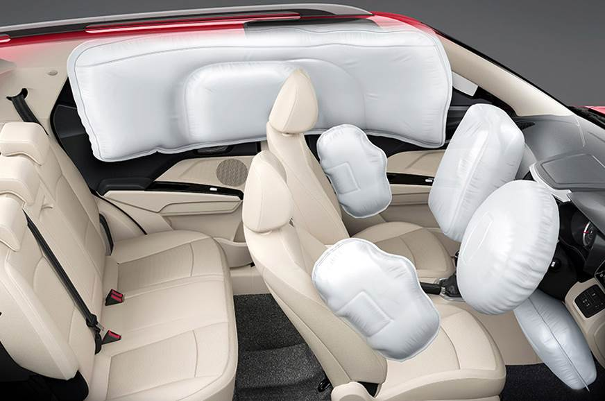 Seven airbags offered on the top-spec XUV300 W8 variant.