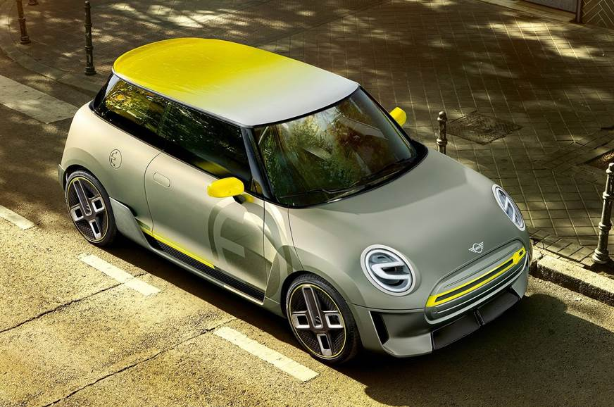 The 2017 Mini Electric Concept used for representation only.