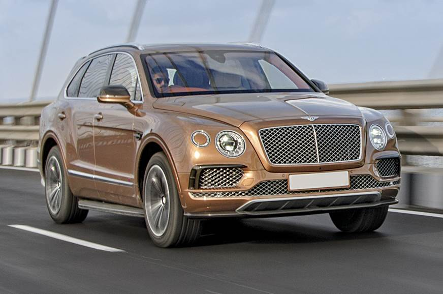 Bentayga W12 used for representation only.