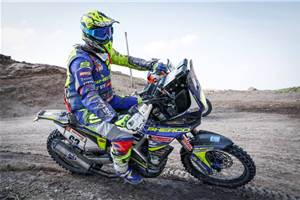 Dakar 2019, Stage 5: TVS in top 3; CS Santosh retires
