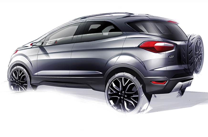 Ford EcoSport sketch used for representation only.