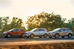 Nissan Kicks vs Renault Captur vs Hyundai Creta comparison