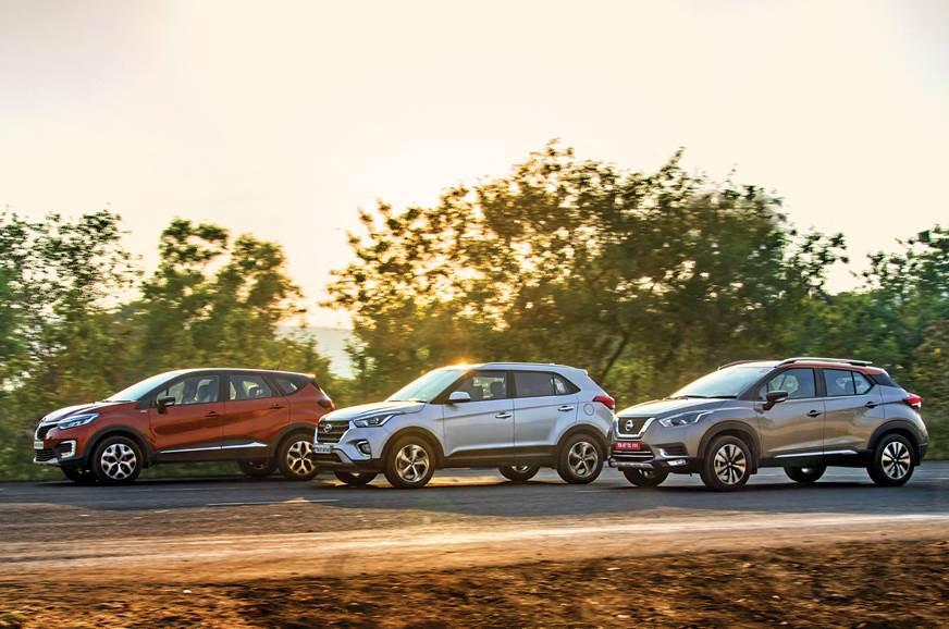 Nissan Kicks vs Renault Captur vs Hyundai Creta comparison