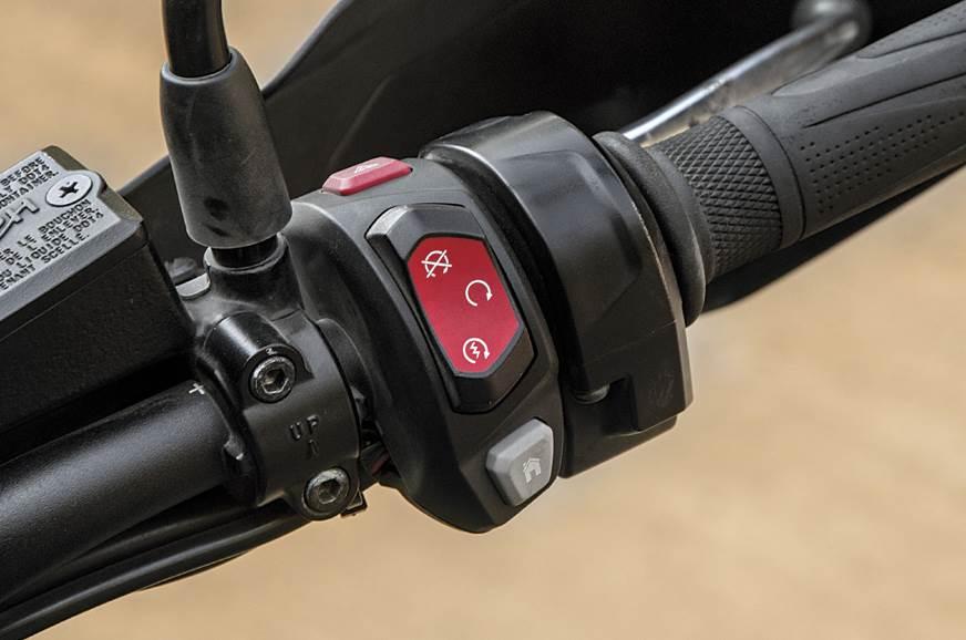 Triumph switchgear intuitive but not backlit.