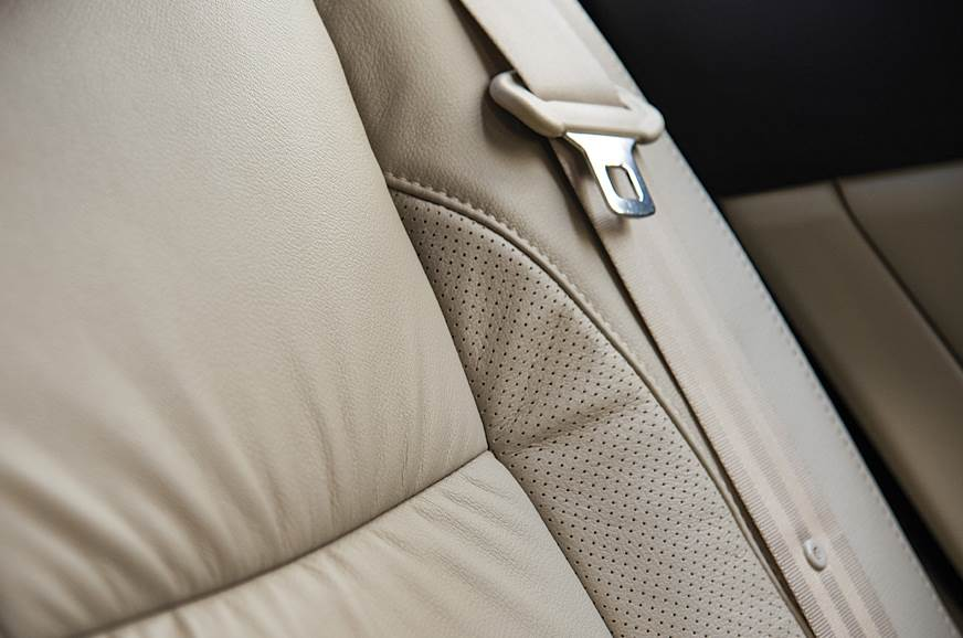 Leather upholstery: Instantly adds a touch of class to th...