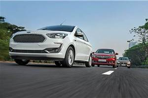 2018 Ford Aspire vs Honda Amaze vs Maruti Suzuki Dzire comparison