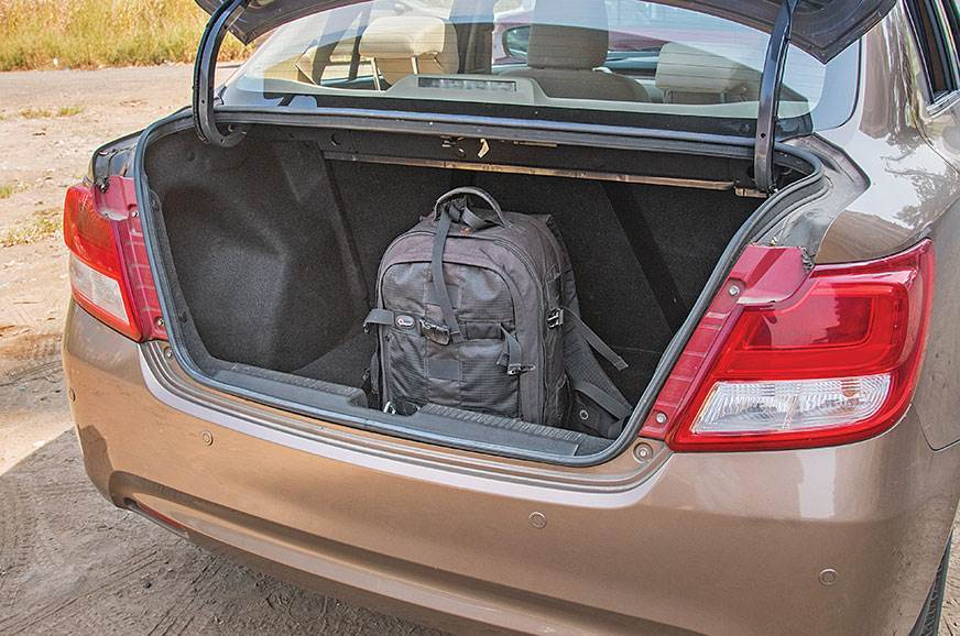 Dzire comes in second with a boot space of 378 litres.