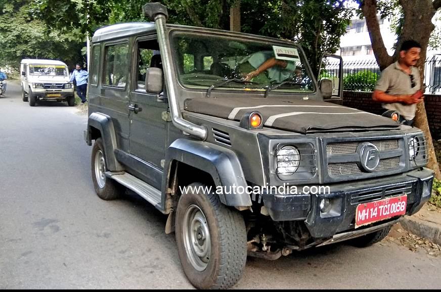 Refreshed Force Trax, Gurkha spied in Chandigarh