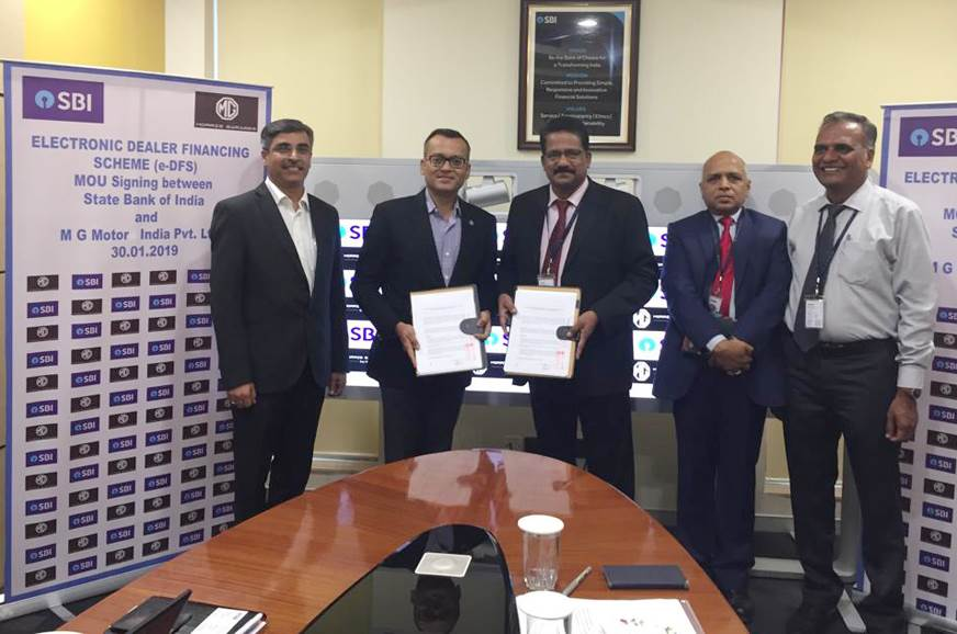 MG Motor India secures SBI's finance options for its dealer partners