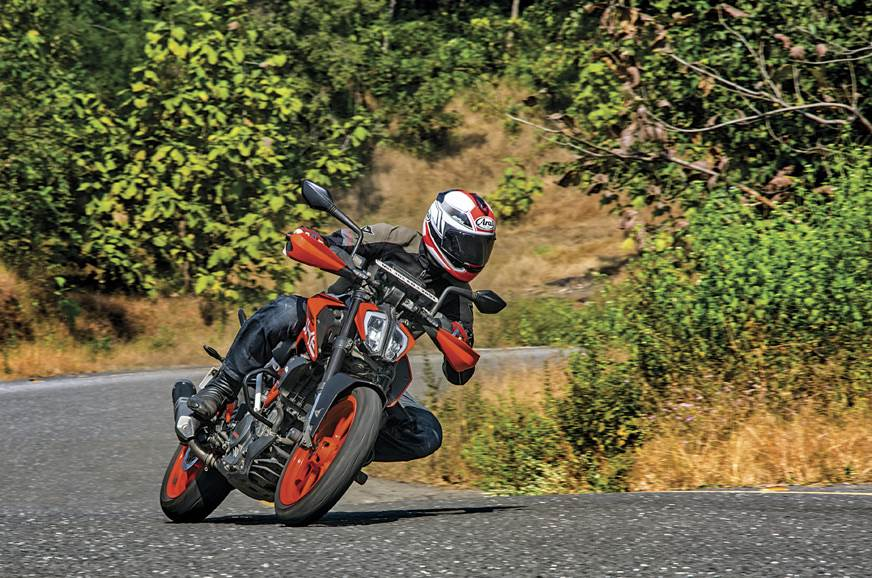The 390 Duke is a point-and-shoot machine that will gobbl...