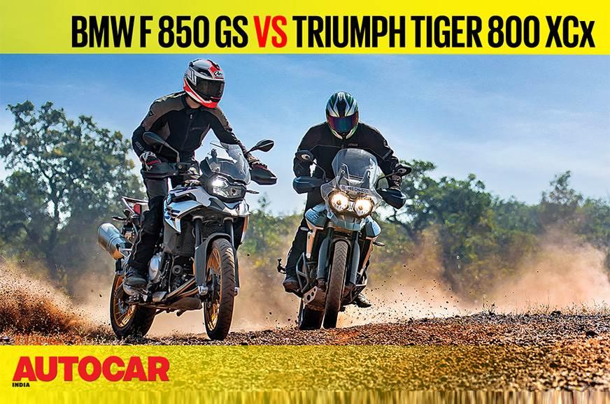 BMW F 850 GS vs Triumph Tiger 800 XCx comparison video