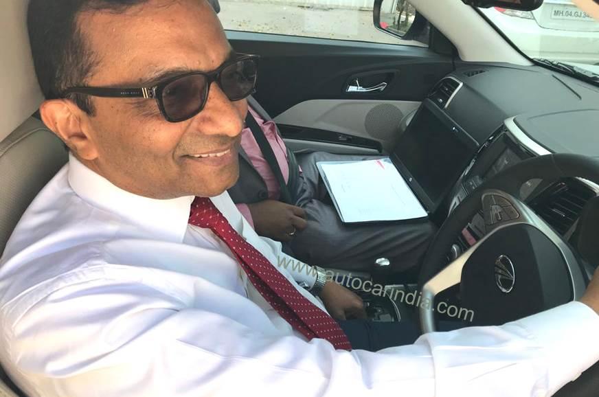 Dr Pawan Goenka, MD, Mahindra & Mahindra driving the AMT-...