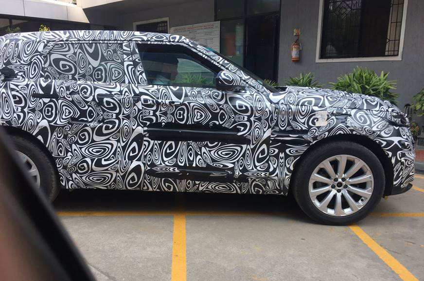 2019 Range Rover Evoque spied in India