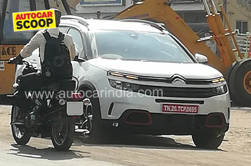 Citroen C5 Aircross SUV spied in India