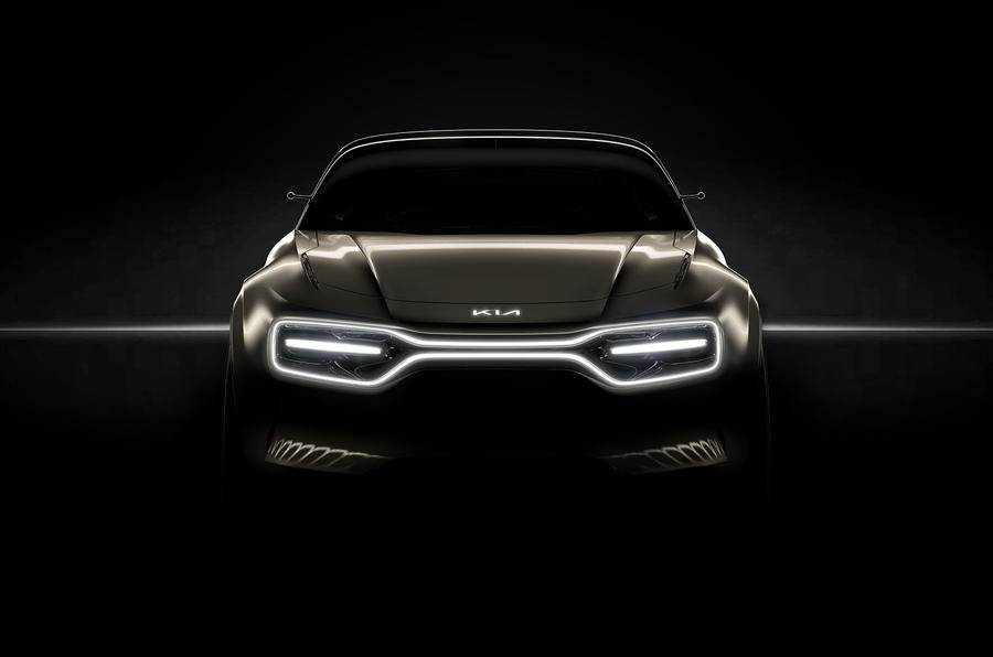Kia all-electric performance car teased before Geneva debut