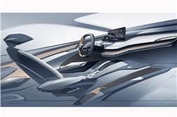 Skoda Vision iV all-electric SUV interior teased