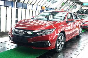 New Honda Civic sedan rolls out from Noida plant